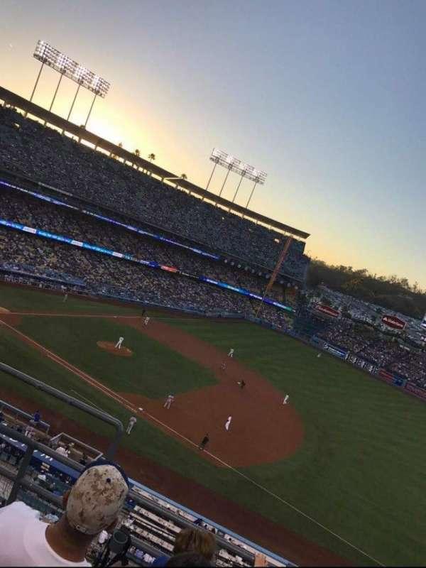 Dodger Stadium, secção: 28RS, fila: D, lugar: 1 2 3