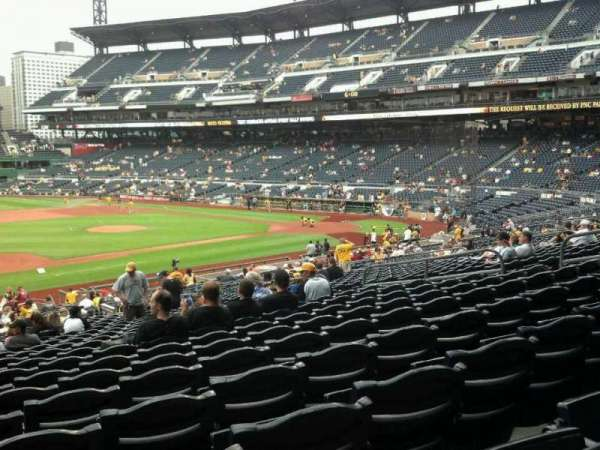 PNC Park, secção: 125, fila: Y, lugar: 16