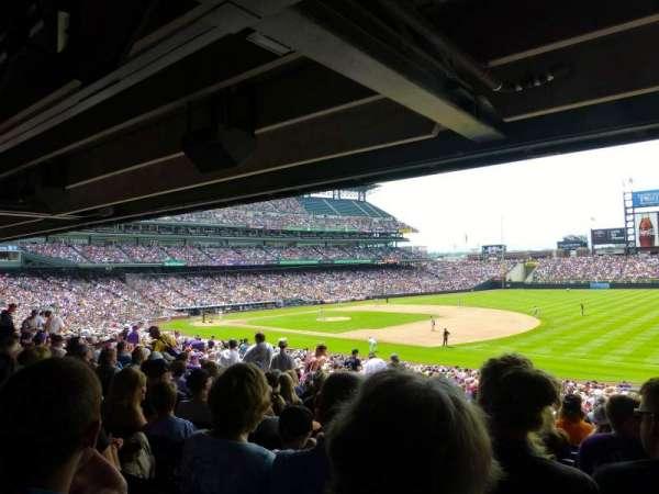 Coors Field, secção: 118, fila: 38, lugar: 3