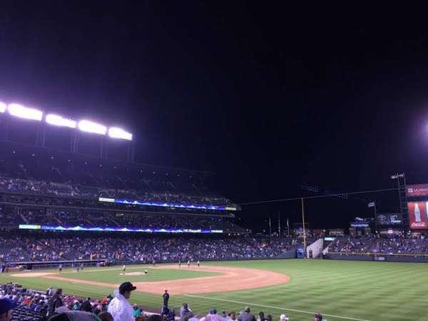 Coors Field, secção: 117, fila: 29, lugar: 3