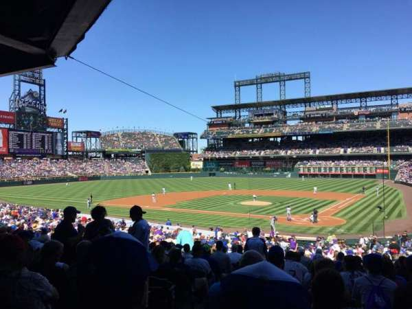 Coors Field, secção: 133, fila: 36, lugar: 13