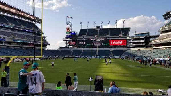 Lincoln Financial Field, secção: 111, fila: 6, lugar: 12