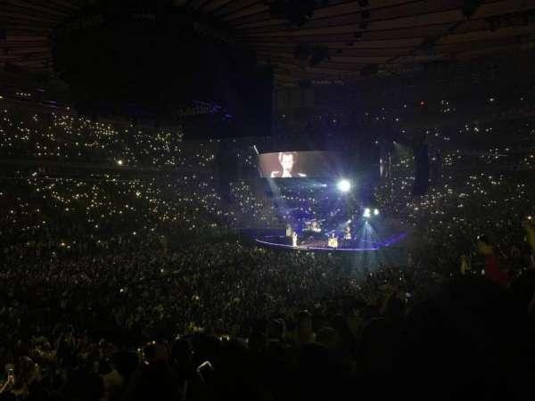 Madison Square Garden, secção: 105, fila: 19, lugar: 9