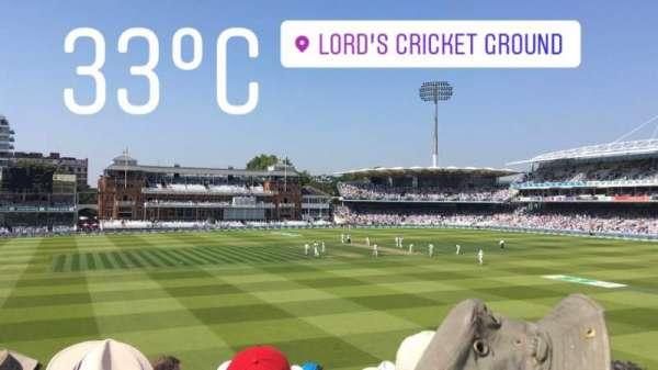 Lord's Cricket Ground, secção: Edrich Stand, fila: 11H, lugar: 30