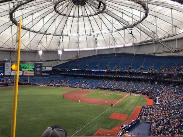 Tropicana Field, secção: 341, fila: C, lugar: 9