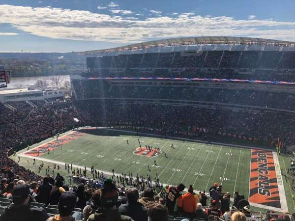 Paul Brown Stadium, secção: 337, fila: 29, lugar: 5