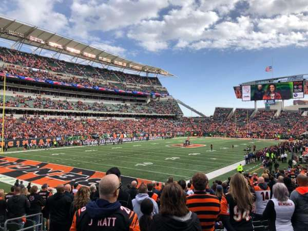 Paul Brown Stadium, secção: 119, fila: 19, lugar: 14