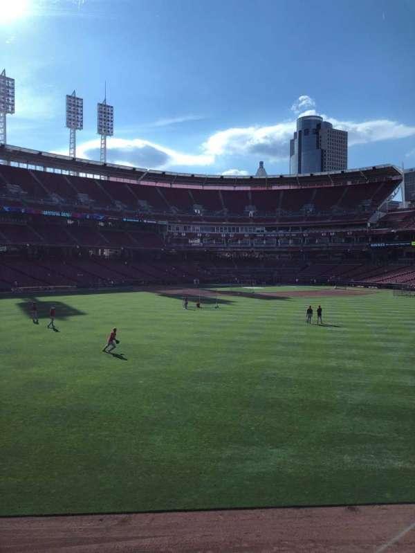 Great American Ball Park, secção: CFPAV, fila: A, lugar: 24