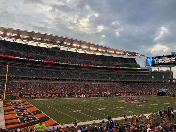 Paul Brown Stadium, secção: 146, fila: 23, lugar: 23