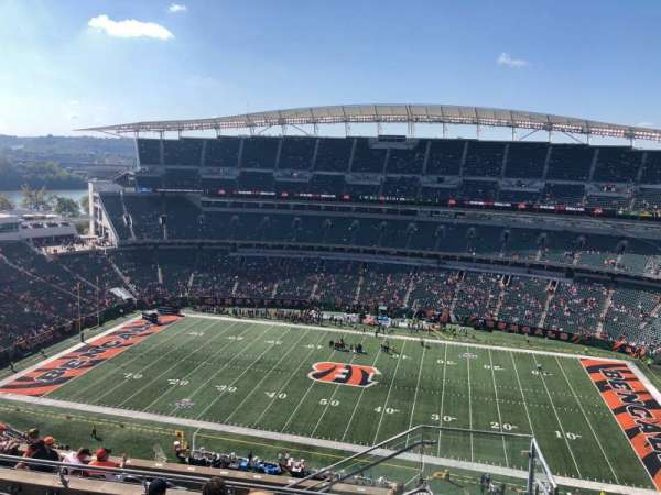 Paul Brown Stadium, secção: 338, fila: 19, lugar: 1