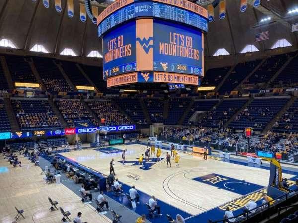 WVU Coliseum, secção: 104, fila: H, lugar: 2
