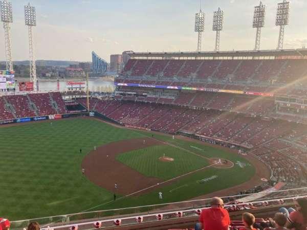 Great American Ball Park, secção: 514, fila: G, lugar: 18