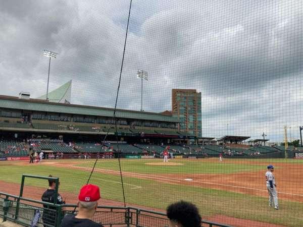 Louisville Slugger Field, secção: 108, fila: E, lugar: 13