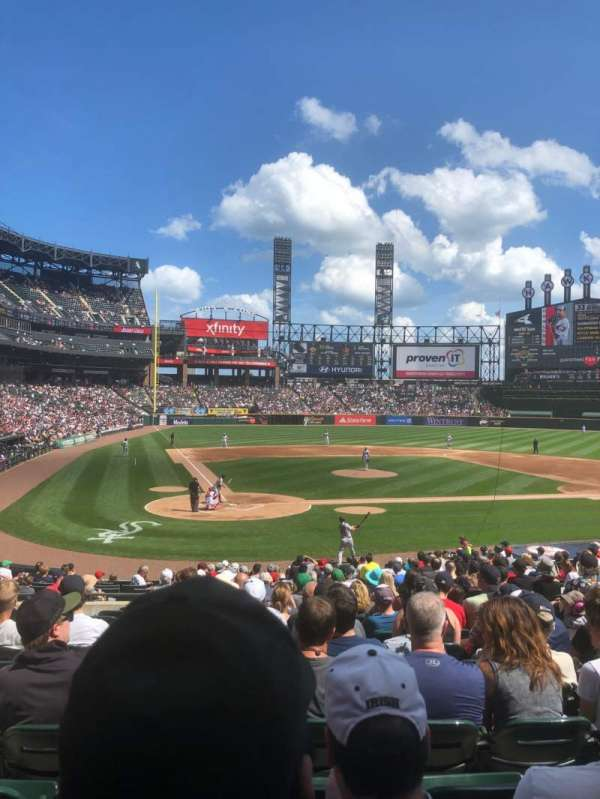 Guaranteed Rate Field, secção: 129, fila: 25, lugar: 7