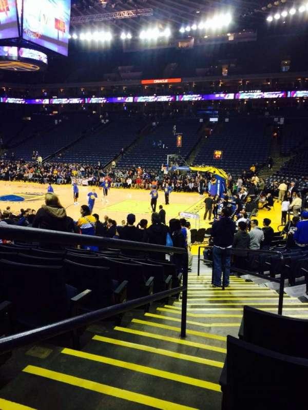 Oakland Arena, secção: 126, fila: 12, lugar: 4