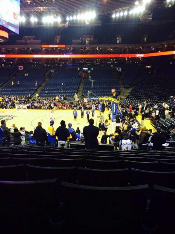Oakland Arena, secção: 127, fila: 15, lugar: 8