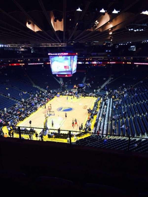 Oakland Arena, secção: 207, fila: 4, lugar: 4