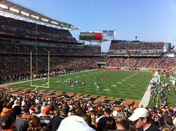 Paul Brown Stadium, secção: 151, fila: 34, lugar: 6