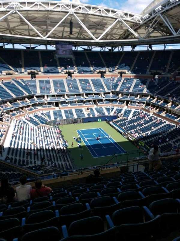 Arthur Ashe Stadium, secção: 339, fila: M, lugar: 10