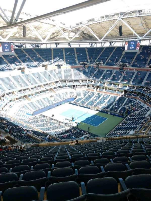 Arthur Ashe Stadium, secção: 335, fila: Y, lugar: 10
