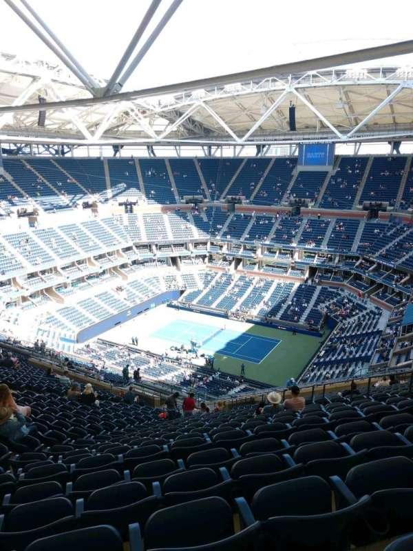 Arthur Ashe Stadium, secção: 334, fila: Y, lugar: 10