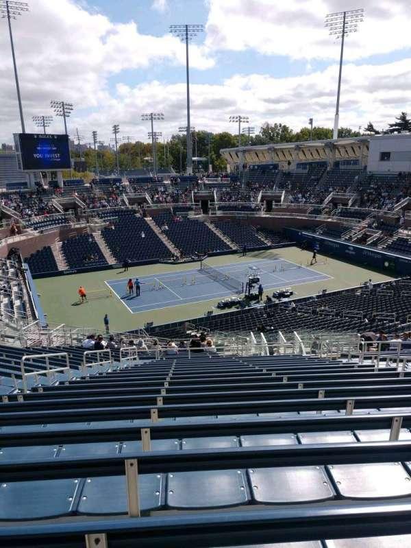 Billie Jean King National Tennis Center, Grandstand, secção: H, fila: R, lugar: 7