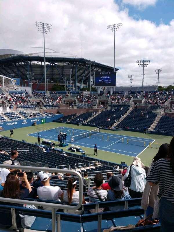 Billie Jean King National Tennis Center, Grandstand, secção: N, fila: H, lugar: 1