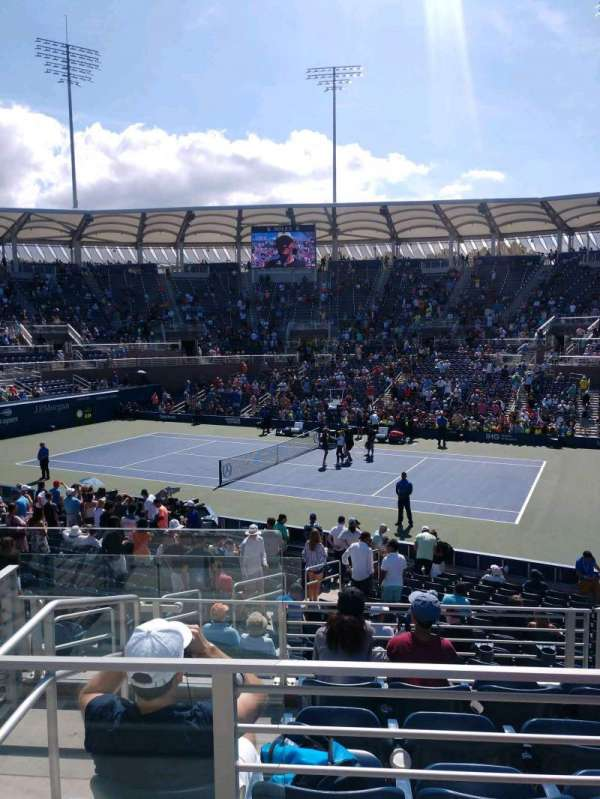 Billie Jean King National Tennis Center, Grandstand, secção: CC, fila: B, lugar: 1