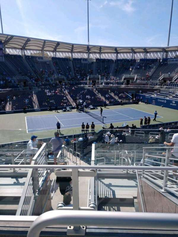 Billie Jean King National Tennis Center, Grandstand, secção: Y, fila: G, lugar: 1
