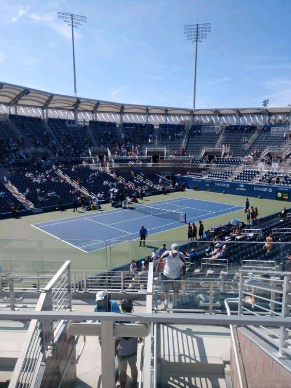 Billie Jean King National Tennis Center, Grandstand, secção: W, fila: G, lugar: 1