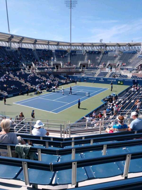 Billie Jean King National Tennis Center, Grandstand, secção: V, fila: G, lugar: 1