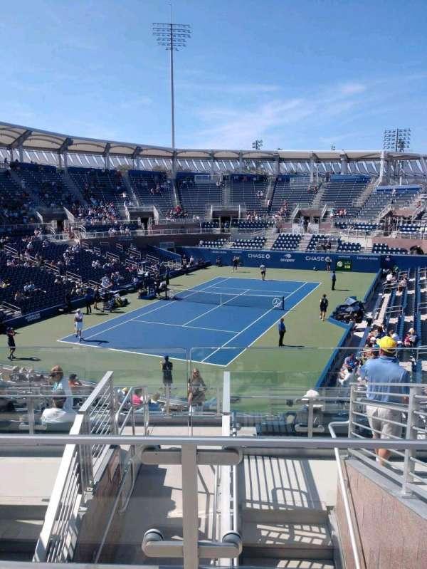 Billie Jean King National Tennis Center, Grandstand, secção: U, fila: G, lugar: 1