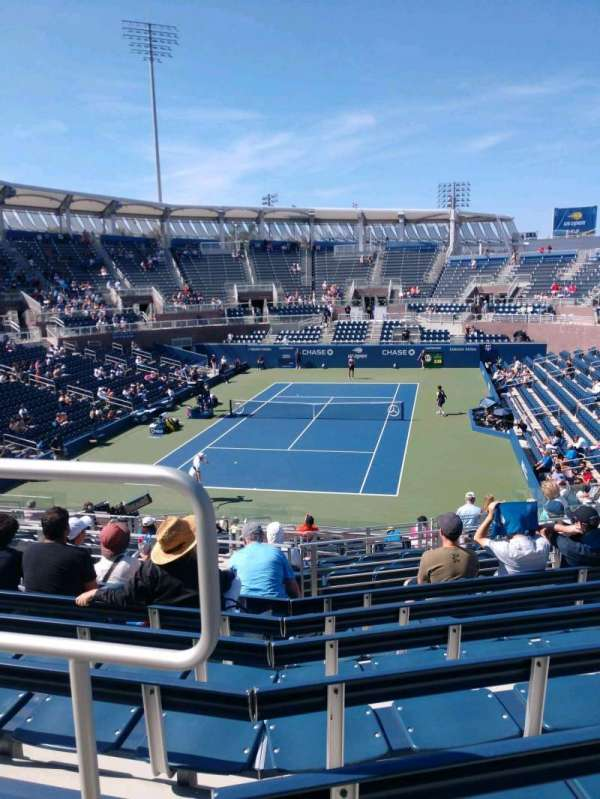 Billie Jean King National Tennis Center, Grandstand, secção: T, fila: G, lugar: 1