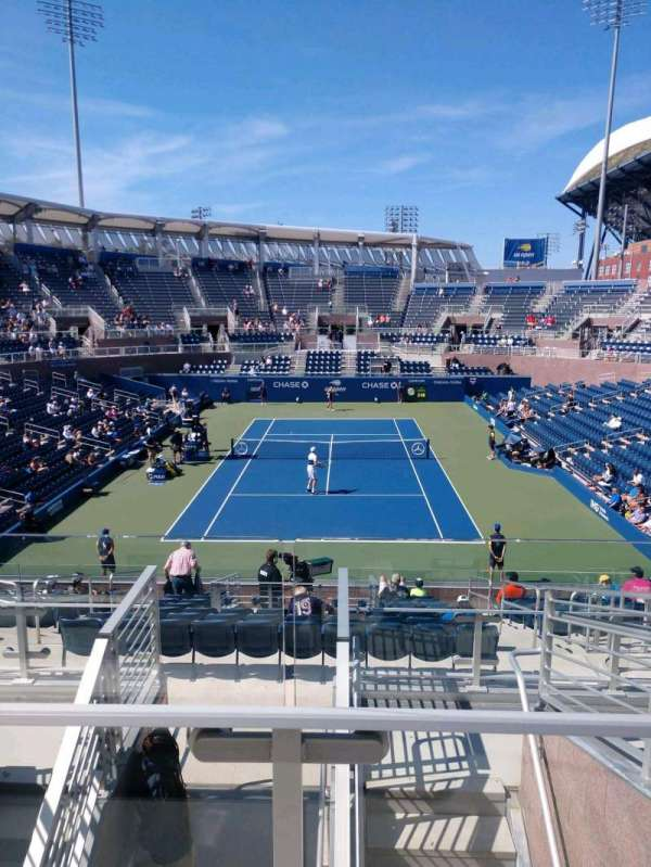 Billie Jean King National Tennis Center, Grandstand, secção: S, fila: G, lugar: 1