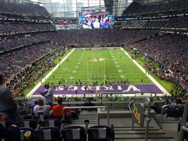 U.S. Bank Stadium, secção: 224, fila: 9, lugar: 1