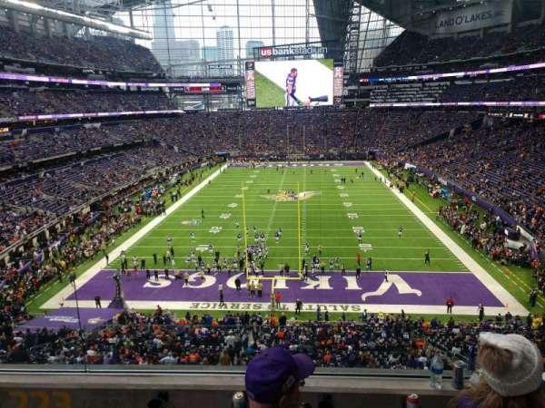 U.S. Bank Stadium, secção: 223, fila: 3, lugar: 12
