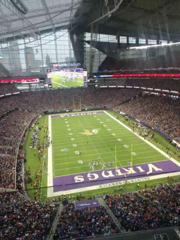 U.S. Bank Stadium, secção: 328, fila: 2, lugar: 18