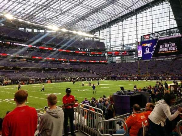 U.S. Bank Stadium, secção: 113, fila: 4, lugar: 4