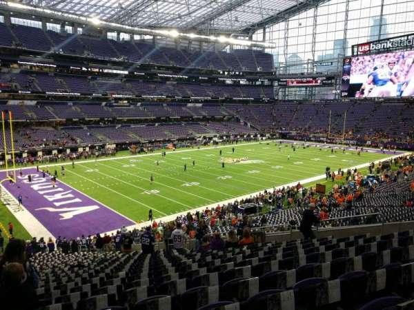U.S. Bank Stadium, secção: 114, fila: 34, lugar: 18