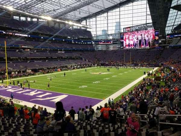 U.S. Bank Stadium, secção: 116, fila: 20, lugar: 7