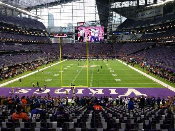 U.S. Bank Stadium, secção: 119, fila: 25, lugar: 14