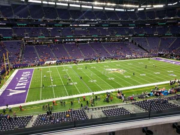 U.S. Bank Stadium, secção: 237, fila: 2, lugar: 12
