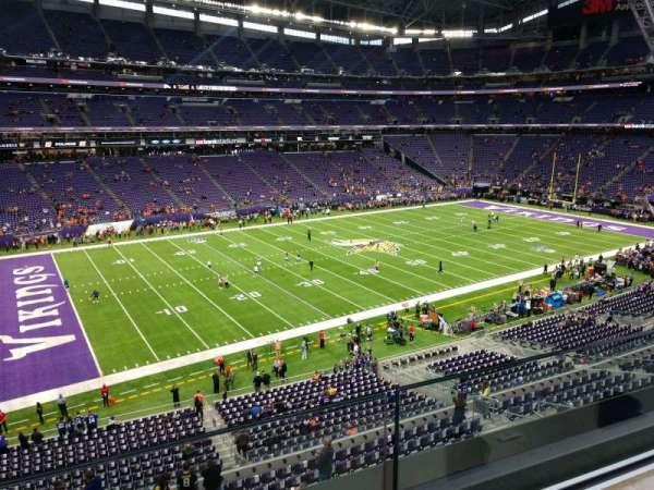 U.S. Bank Stadium, secção: 238, fila: 1, lugar: 23