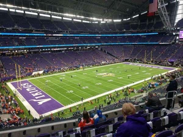 U.S. Bank Stadium, secção: 240, fila: 6, lugar: 10