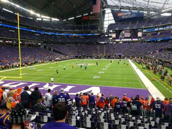 U.S. Bank Stadium, secção: 140, fila: 14, lugar: 7