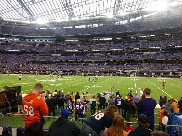 U.S. Bank Stadium, secção: 107, fila: 5, lugar: 6