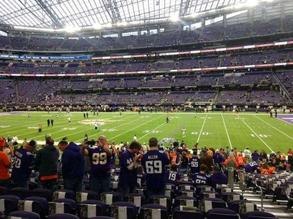 U.S. Bank Stadium, secção: 107, fila: 18, lugar: 3