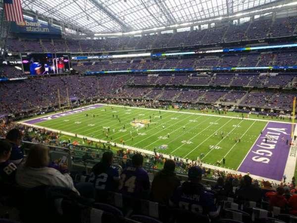 U.S. Bank Stadium, secção: 206, fila: 12, lugar: 10
