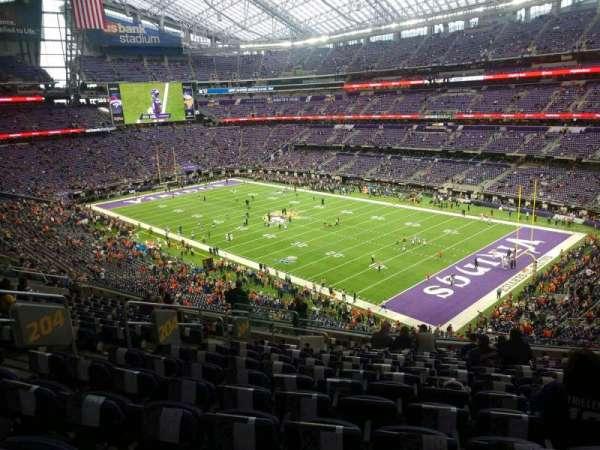 U.S. Bank Stadium, secção: 204, fila: 15, lugar: 20