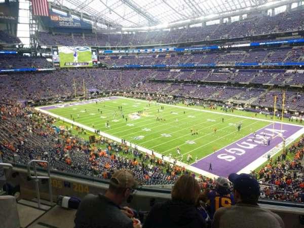 U.S. Bank Stadium, secção: 204, fila: 5, lugar: 12